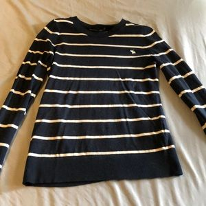 Abercrombie stripped long sleeve knit